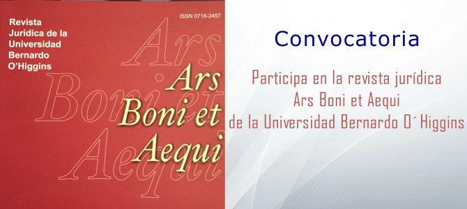 Convocatoria para publicar en la Revista Ars Boni et Aequi