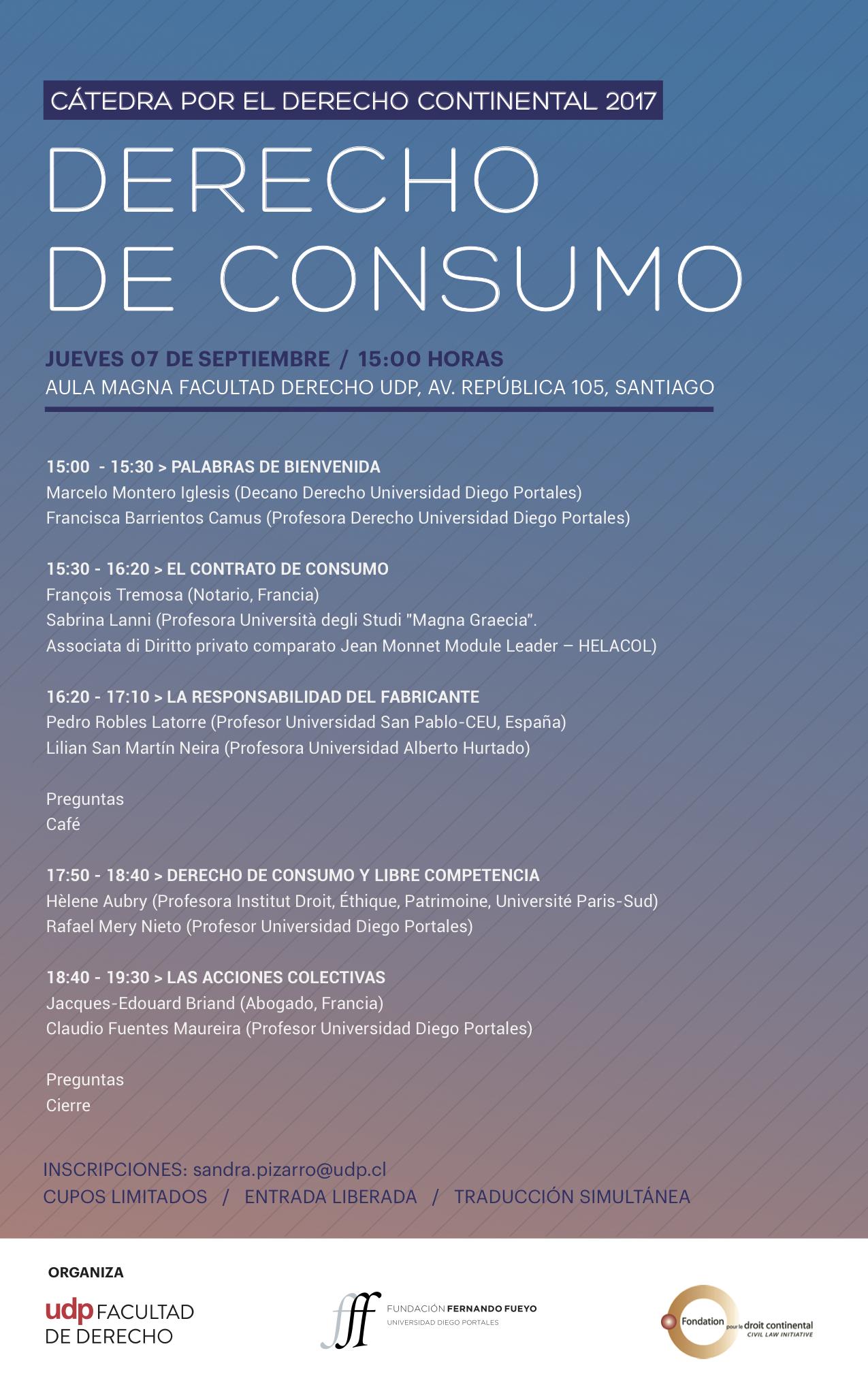 Afiche Cátedra - Fundación Fueyo 2017